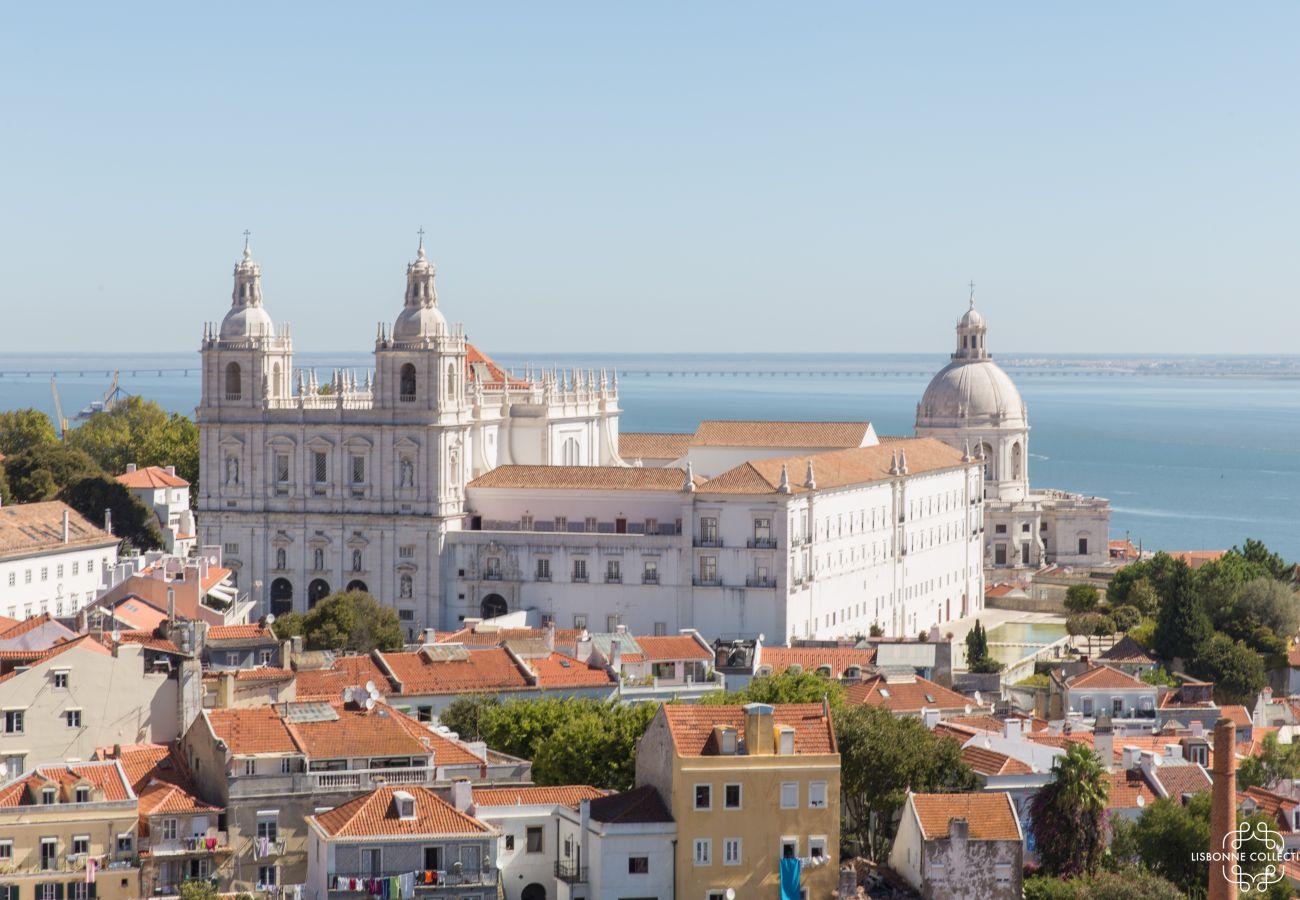 Vista do Castelo de São Jorge e da varanda do Tejo
