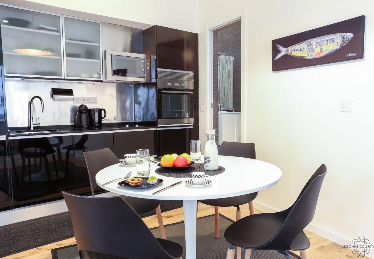 apartamento no centro de Lisboa com decoração contemporânea