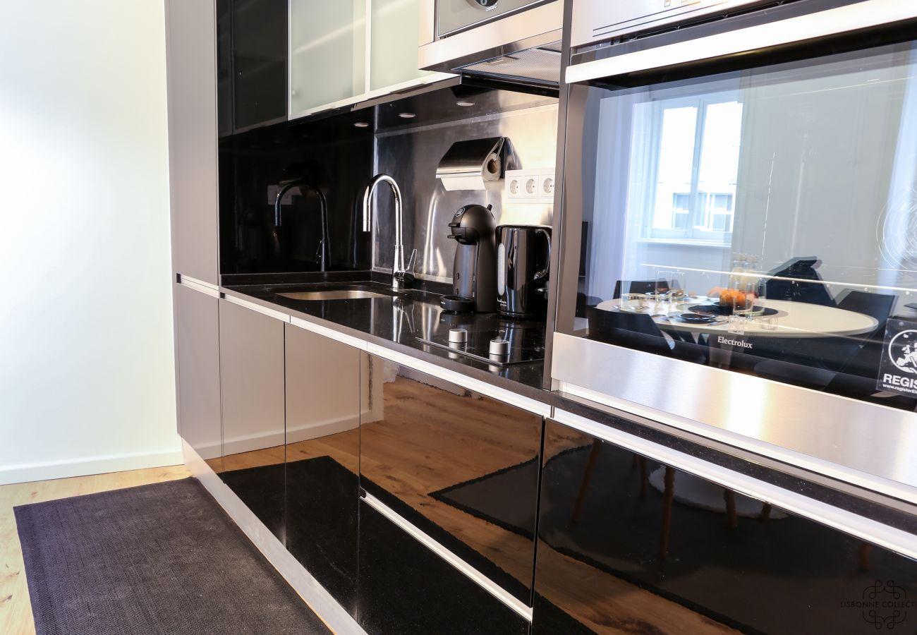 cozinha de design e mobiliário moderno de luxo ideal para férias