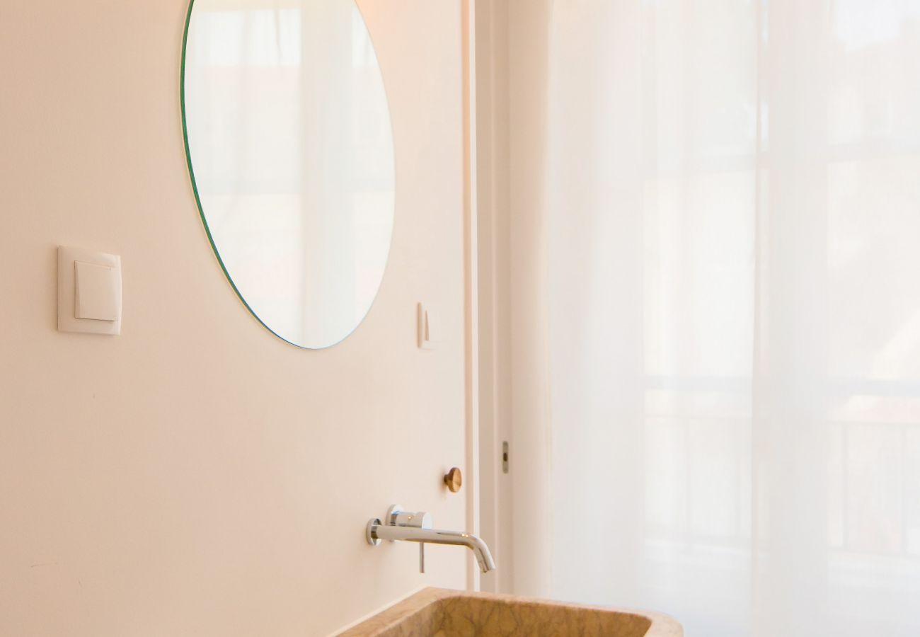 casa de banho em apartamento de Lisboa com família ou amigos