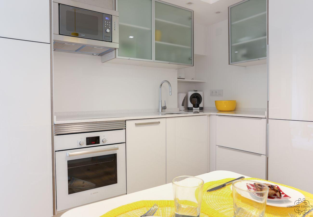 cozinha totalmente equipada no centro de Lisboa