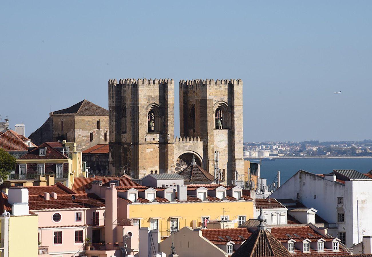 Catedral da Sé ao lado do apartamento alugado
