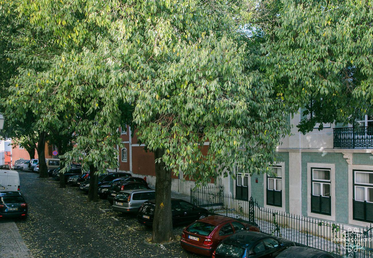 Vista da janela do prestigioso apartamento em Lisboa