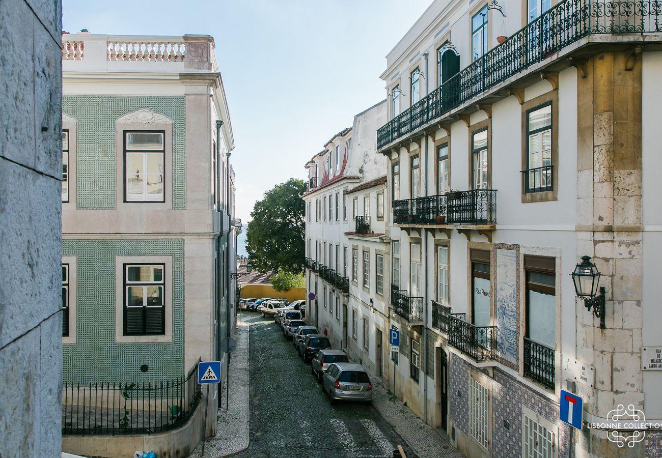 Vista da janela do prestigiado apartamento