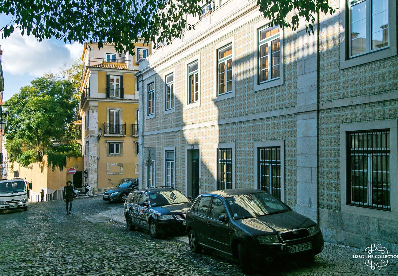 Área do apartamento para alugar no centro da cidade