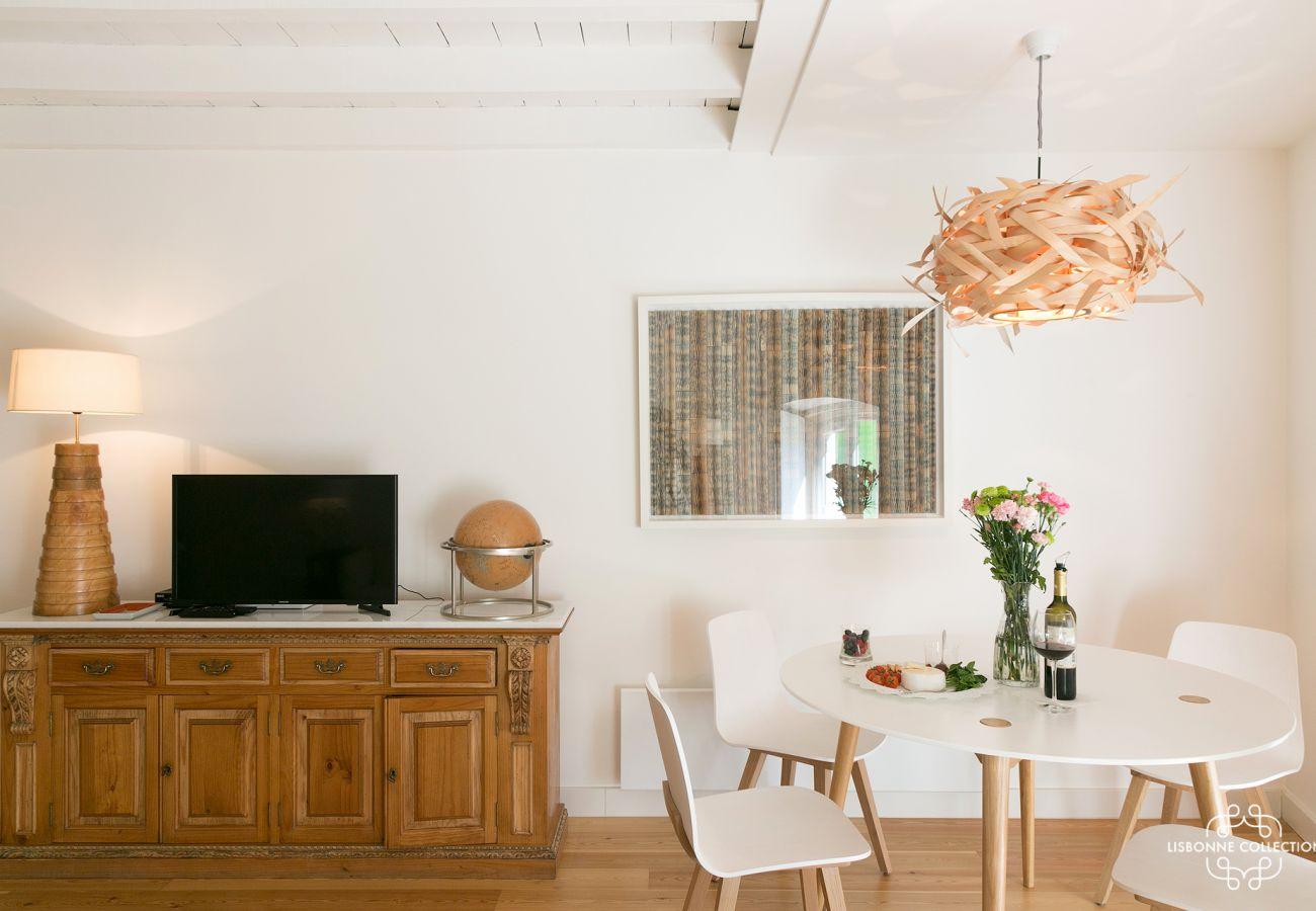 Decoração simples e brilhante para arrendamento em Lisboa