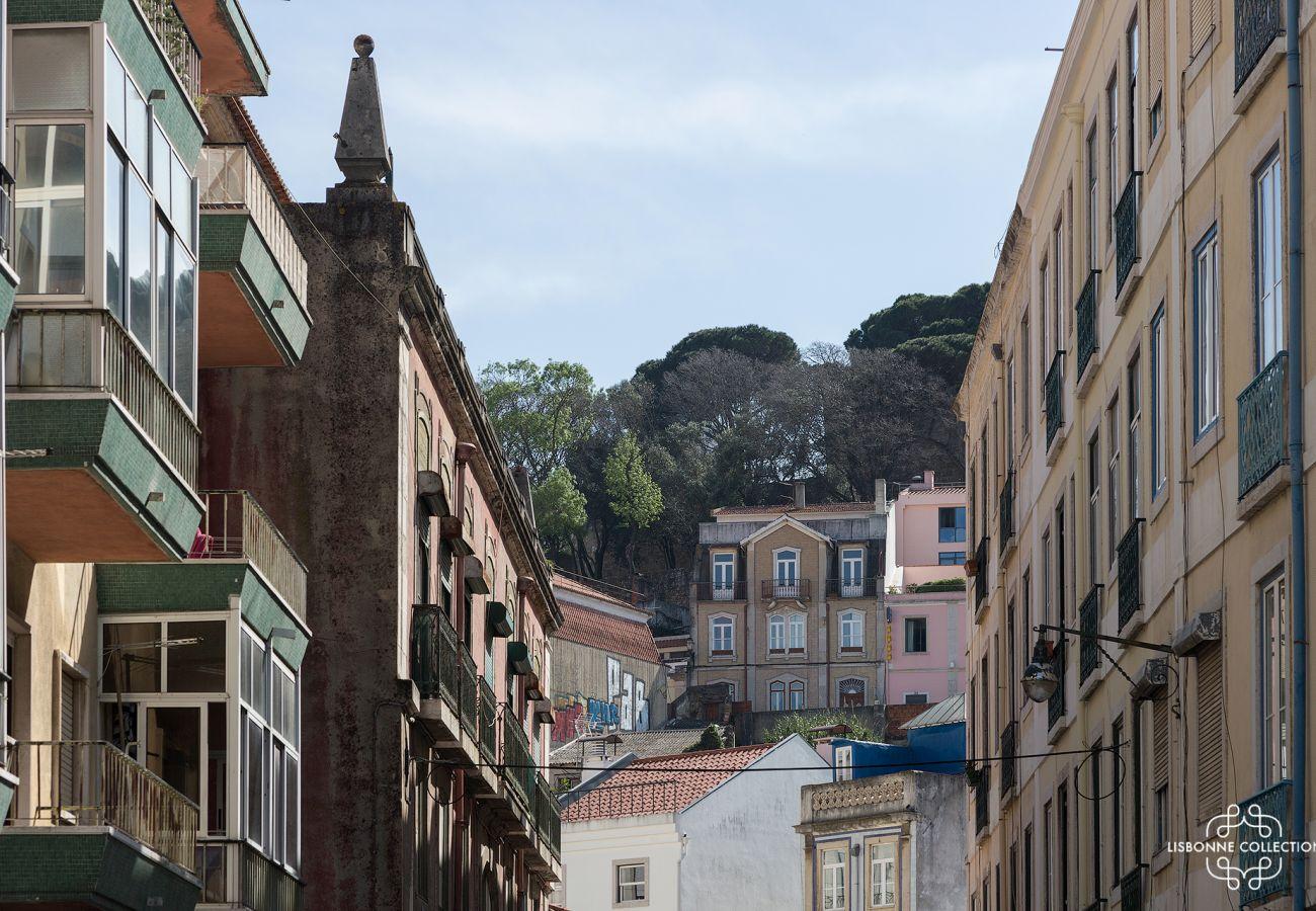 Bairro histórico e emblemático da Graça em Lisboa em Portugal