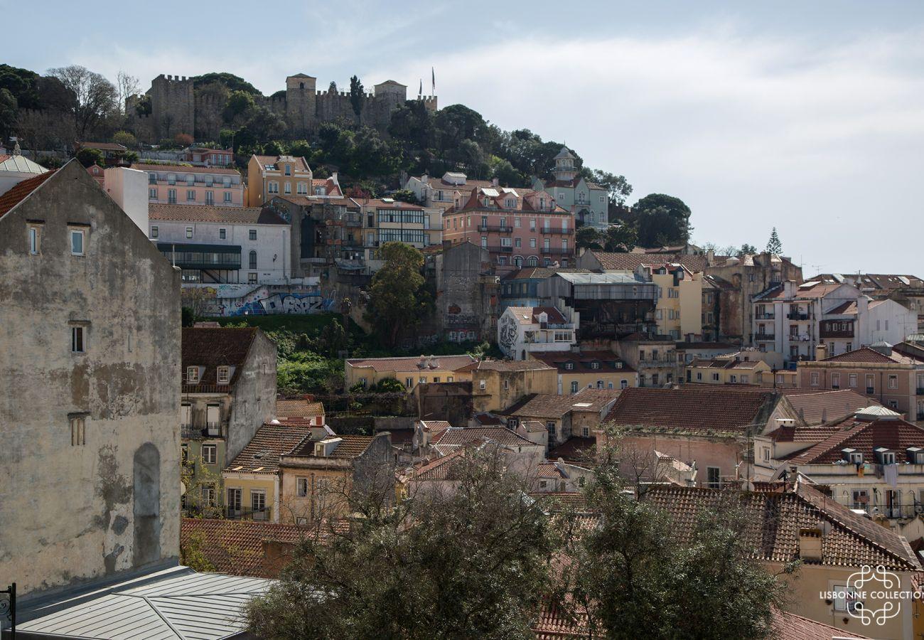 Vista do apartamento para alugar no centro de Lisboa