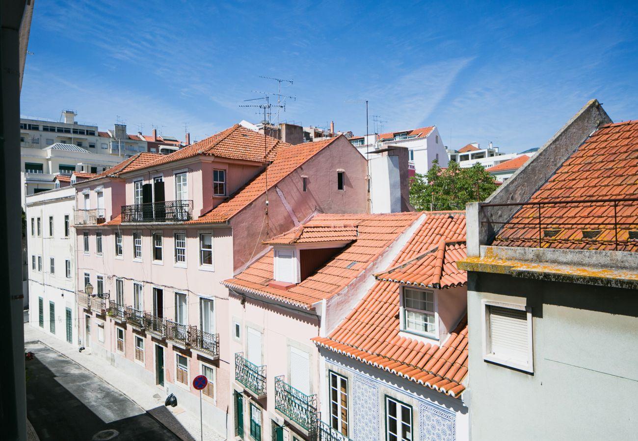Esplêndida vista de Lisboa e das suas 7 colinas para férias