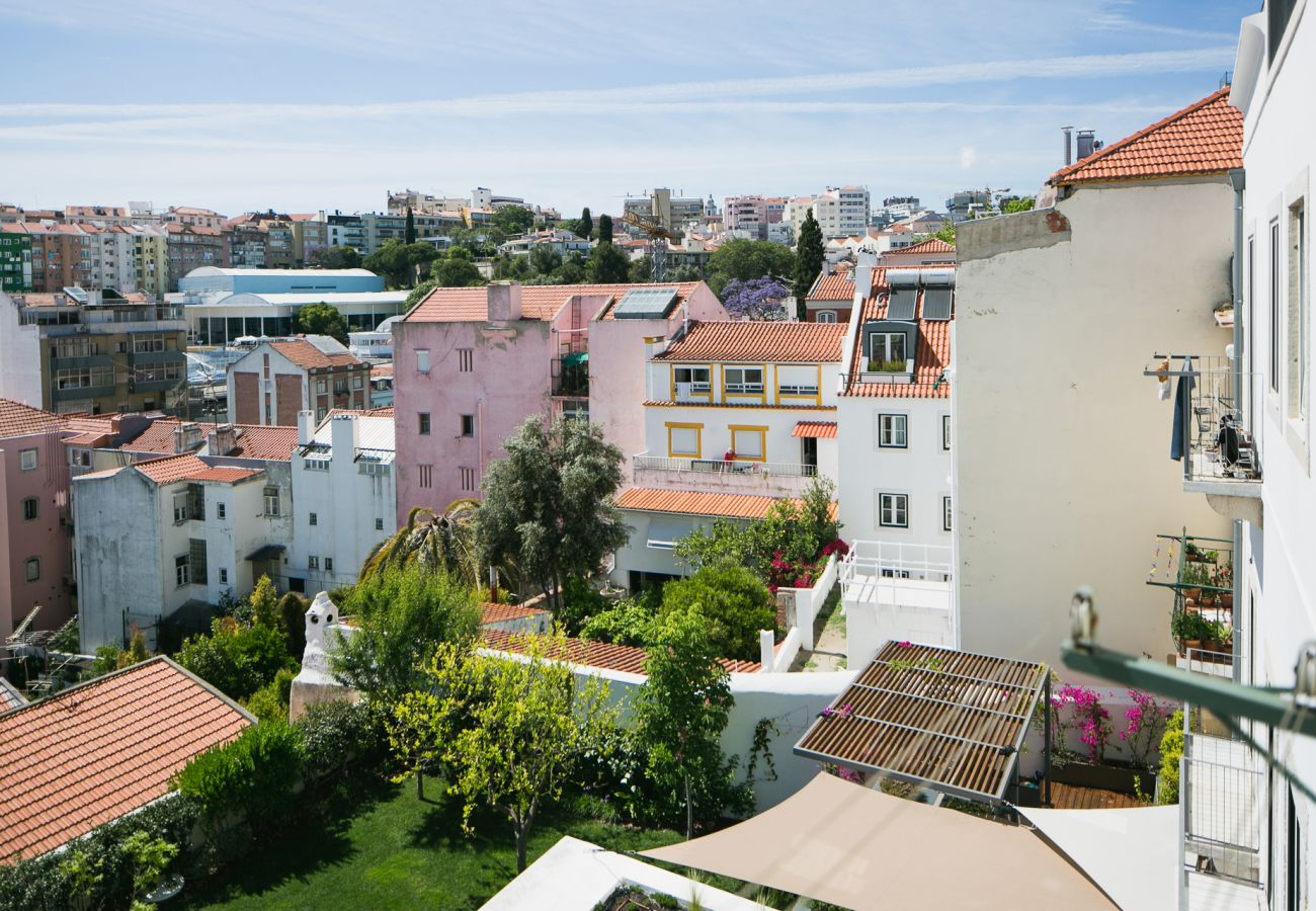 Vista da moradia de prestígio para alugar no centro de Lisboa