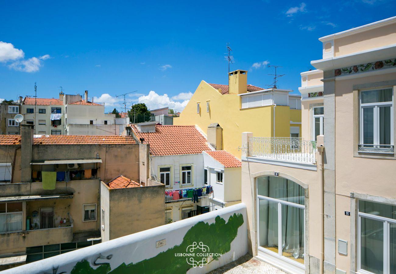 Vista do apartamento alugado disponível na capital portuguesa