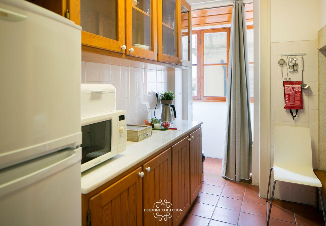 Cozinha agradável e espaçosa no coração da capital portuguesa