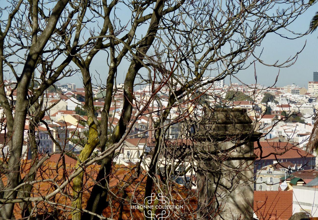 Vista dos telhados da cidade de Lisboa