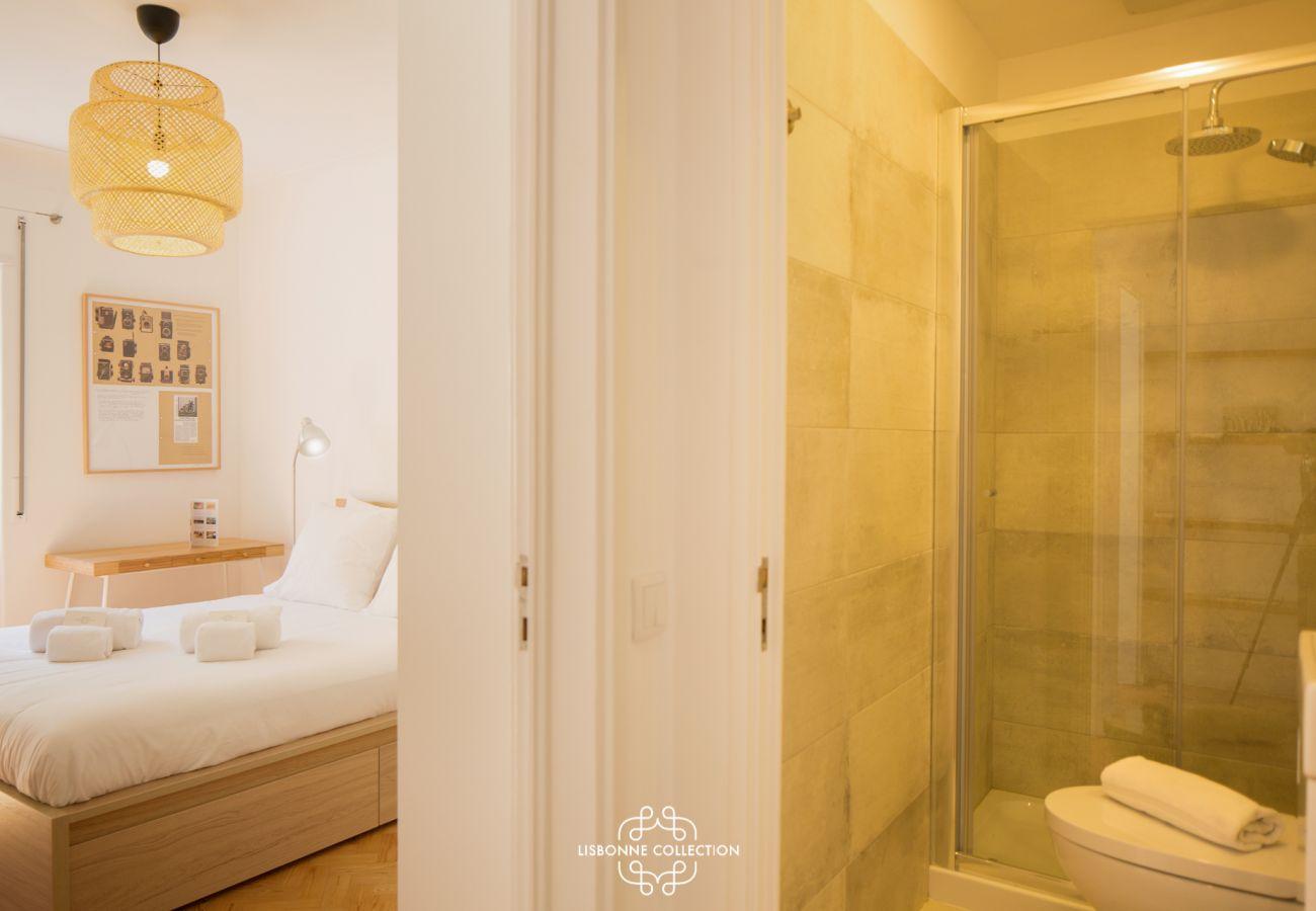 Suite com casa de banho moderna e design
