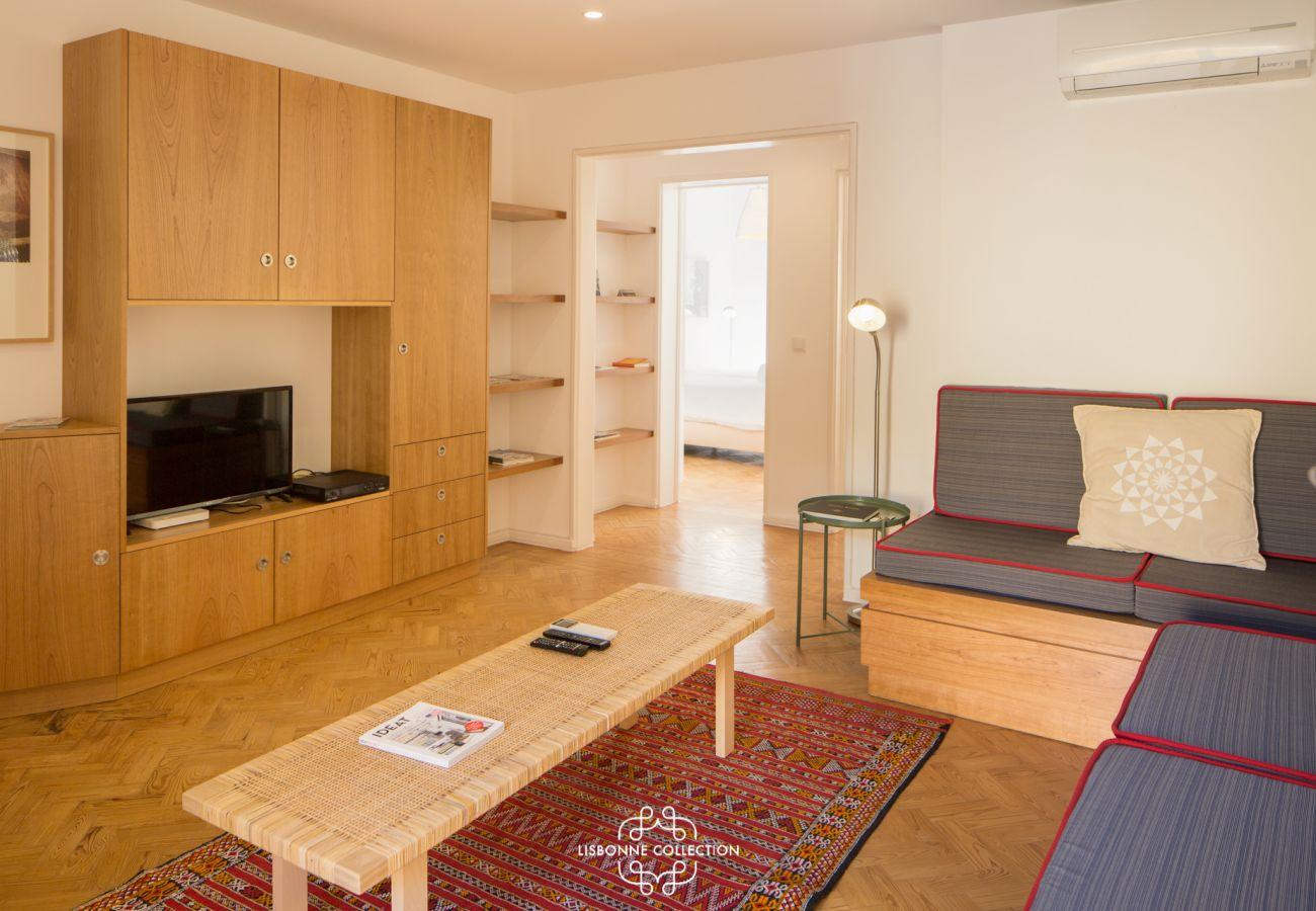 Luxuosa sala de estar para férias no centro da cidade