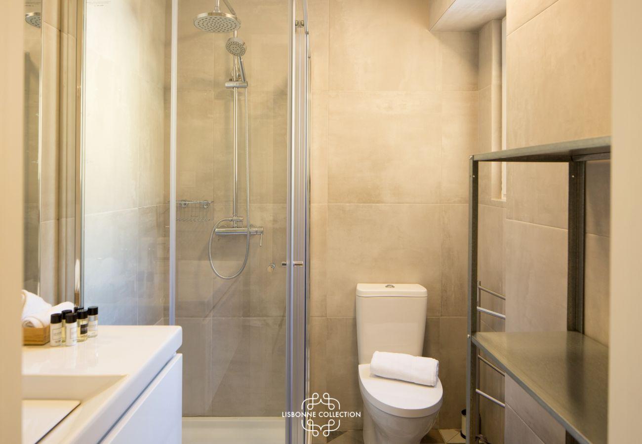 Casa de banho de luxo com design high-end