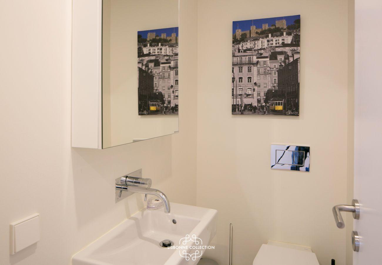 WC separado do banheiro no apartamento