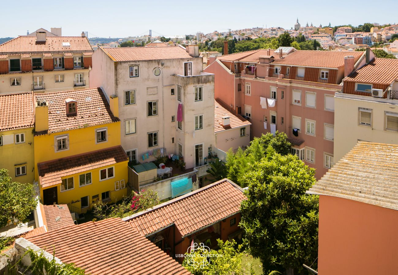 Vista do apartamento de luxo para alugar
